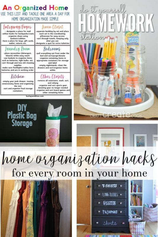 clever home organization tips and tricks how to organize your home rh pinterest com