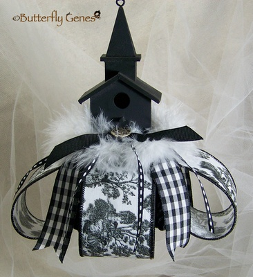 Church Birdhouse Tassel