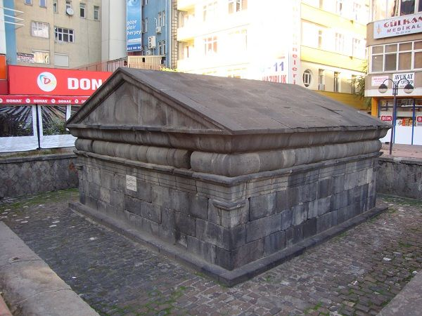 Roman tombs in the city centre of Kayseri, Turkey