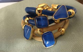 Extremely fashionable golden plated bracelets by Ozzi Jewellery #fashion #jewelry