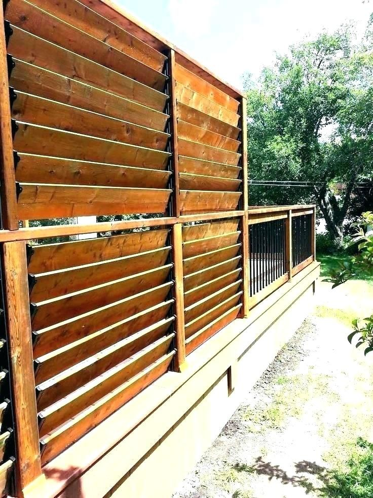 Privacy Screens For Deck Railings