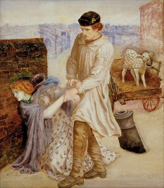 "Dante Gabriel Rossetti - Unfinished work ""Found""   1869 (unfinished)"