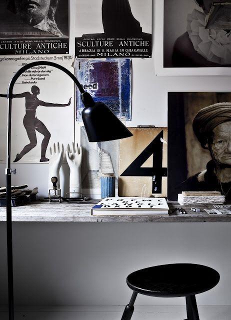 /: Interiors Inspiration, Wall Decor, Offices Spaces, Interiors Design, Work Spaces, Workspaces, Floors Lamps, Bellevu Lamps, Desks Spaces