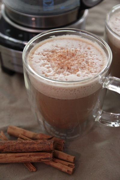 Cafe Miel recipe:  Basically a latte with vanilla extract/syrup, honey, cinnamon, and/or nutmeg! Looks delicious!