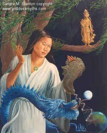 QUAN YIN o KUAN YIN  Maestra di Compassione. (davvero vissuta). (Immagine di fantasia).
