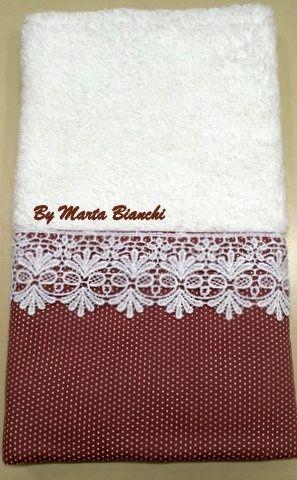 Toalha de lavabo em patchwork