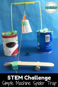 This is a fun STEM Challenge for Halloween or all year long! Use simple machines to create a spider trap for Little Miss Muffet. A nursery rhyme twist for grades 3-5! This is also part of a bundle: www.teacherspayte... More Than a Worksheet $