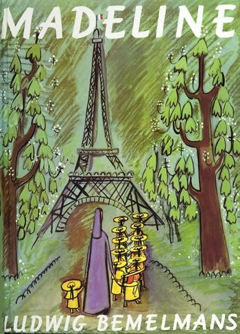 Madeline by Ludwig Bemelmans -  Nothing frightens Madeline--not tigers, not mice, not even getting sick. To Madeline, a trip to the hospital is a grand adventure. A true classic, Madeline continues to enchant readers more than sixty years after its first publication. A Caldecott Honor Book: