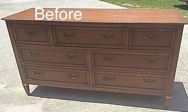 My client wanted a neutral dresser for her baby's nursery, so this is how I flipped an old dresser I had