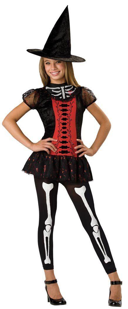Lucky Witchbone Skeleton Girl Dress Designer Costume Child