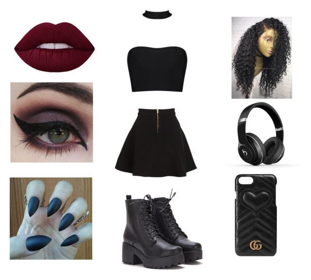 """Story/summer"" by isabelegolia on Polyvore featuring Parker, Concrete Minerals, Beats by Dr. Dre and Gucci"