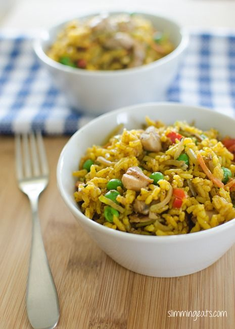 Coconut Chicken Curry Rice | Slimming Eats - Slimming World Recipes