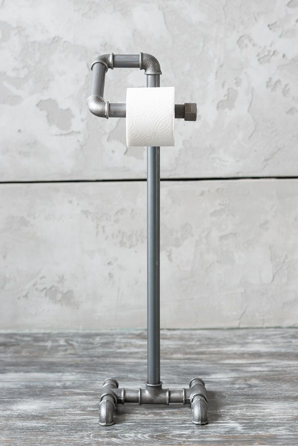 The original paper holder not only fulfills its direct purpose, but also serves as a stylish addition to the individual and unordinary interior for your bathroom. The holder is made of steel pipes, connected together by cast iron fittings on high-quality threaded connections.   Dimensions: 75*22*22 cm