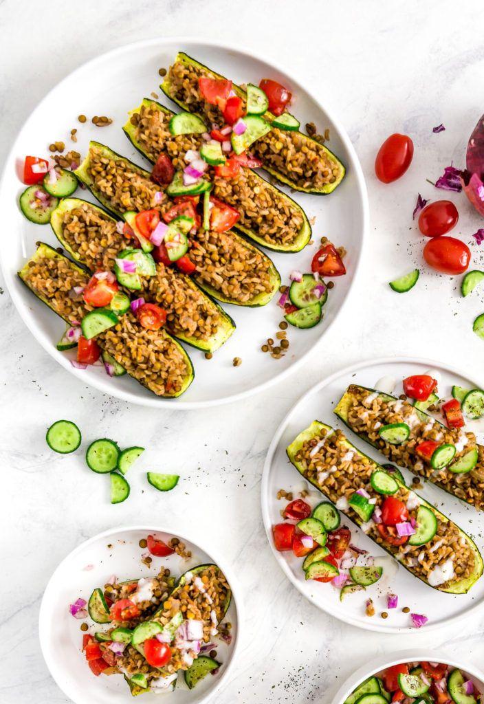 Middle Eastern Stuffed Zucchini Boats