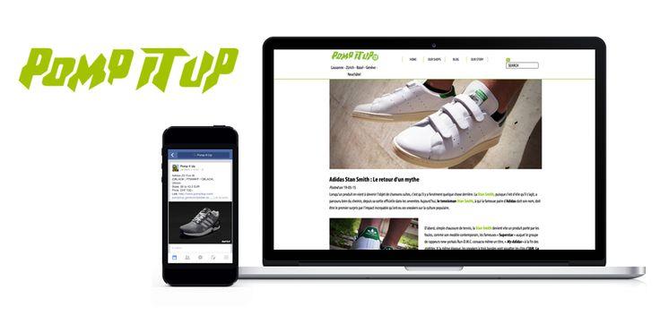 www.asimove.com | POMP IT UP : Content marketing pour les magasins de sneakers suisses. Création et publication de contenu sur les réseaux sociaux et le blog Pomp It Up, ainsi que shooting puis mise en ligne des nouveaux produits sur pompitup.com. Augmentation du trafic web et promotion de produits.