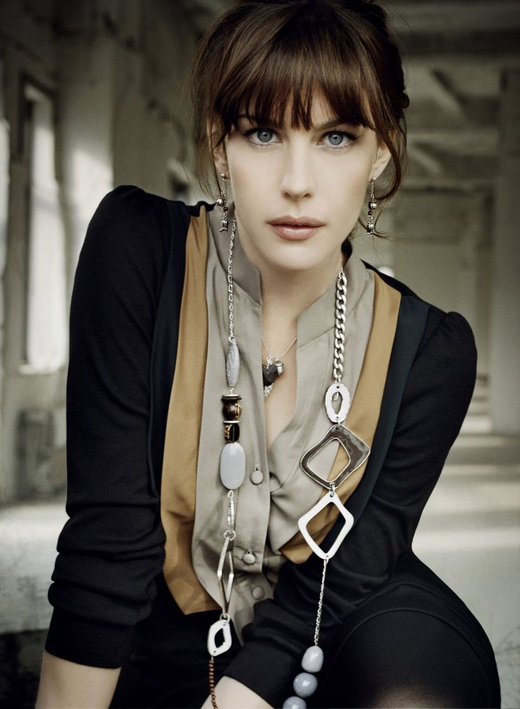 Liv Tyler--she's so freaking beautiful. And she did a great job as Arwen. And she's Steven Tyler's daughter.