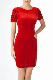 Картинки по запросу красное платье повседневное