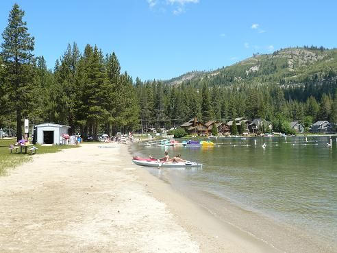 West End Beach at Donner Lake in Truckee is a 10 acre day use beach facility with amazing views and lots of amenities!