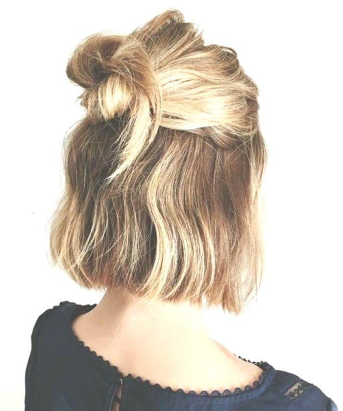 Half Bun Hair Short Hair Bun Half Bun Updo Sac Topuzlari Sac