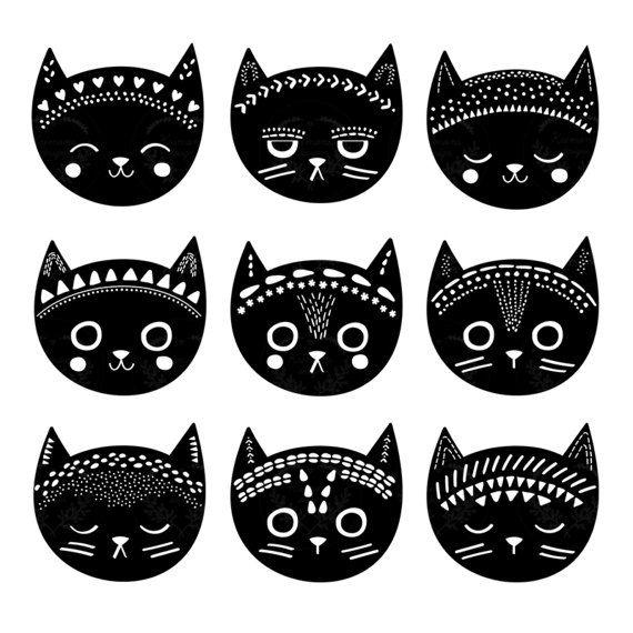 17 best ideas about Cat Clipart on Pinterest | Black cat ...