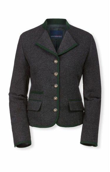 Traditional loden jacket Nelia anthrazit