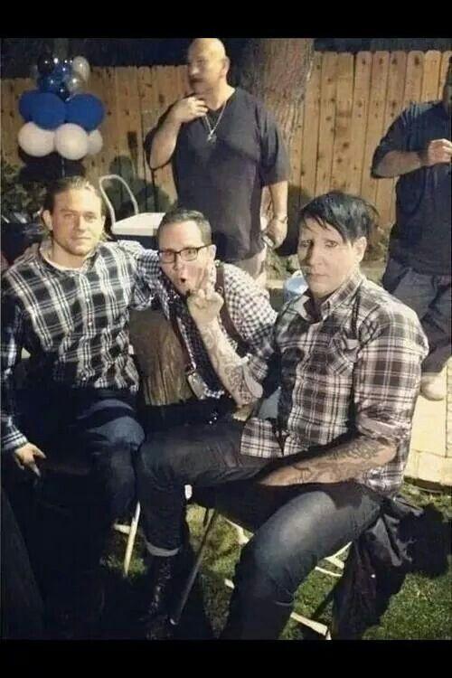 SOA, Charlie Hunnam, Marilyn Manson, and some dude. Season 7