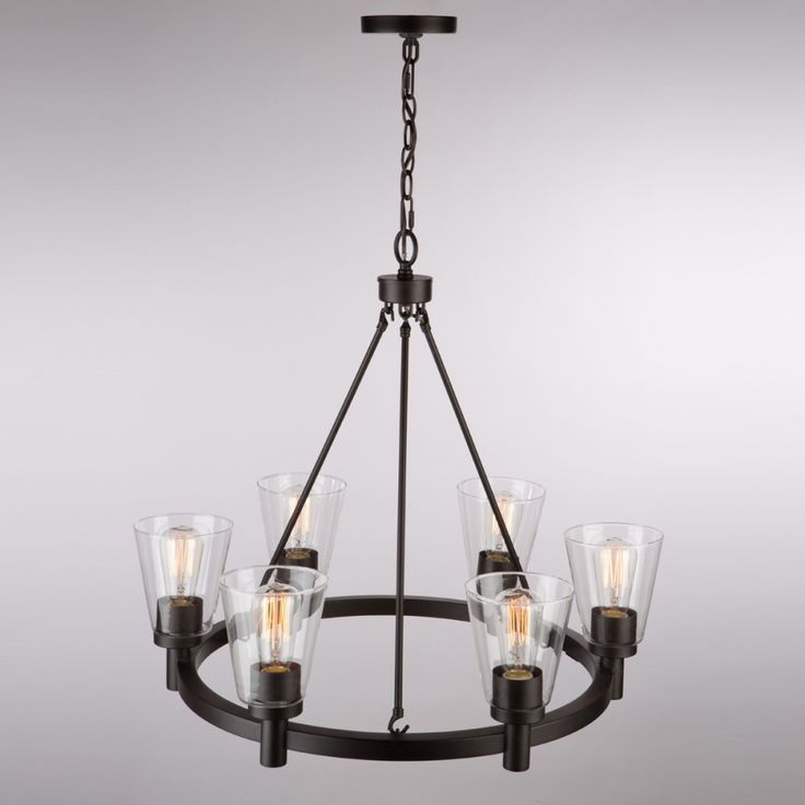 Clarence AC10766OB 6 Light Chandelier
