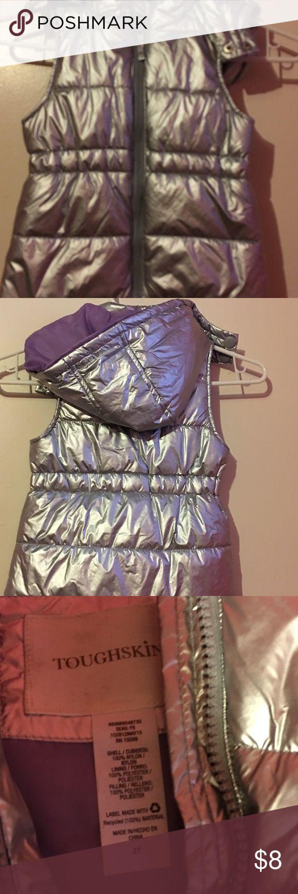 Metallic vest Metallic kids vest size 3T used once 😍 Jackets & Coats Vests