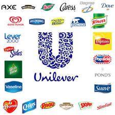 Verschillende merken van Unilever