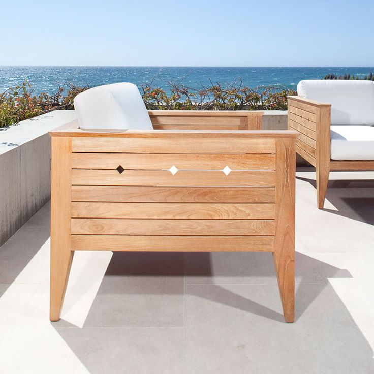Craftsman Teak Deep Seating Outdoor Lounge Chair - Westminster Teak Outdoor Furniture