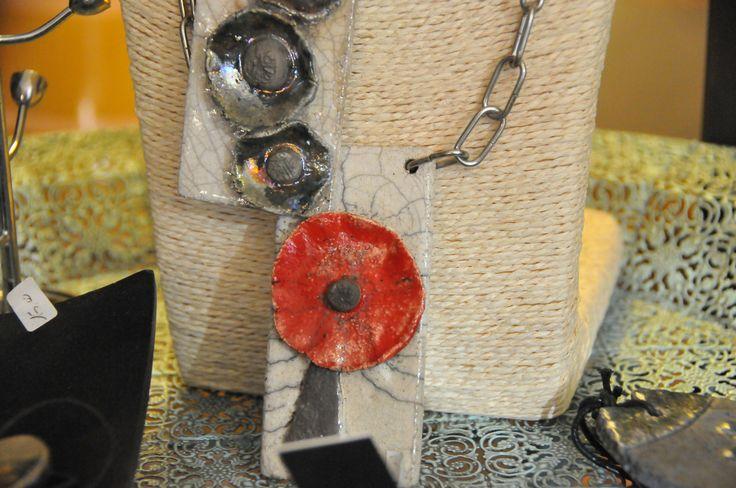 I nostri manufatti Raku sono tutti pezzi unici.... rings and necklaces handmade raku pottery. I Tesori Coloniali Reggio Emilia Italy #collane #raku #ceramica #ceramicaraku #itesoricolonial