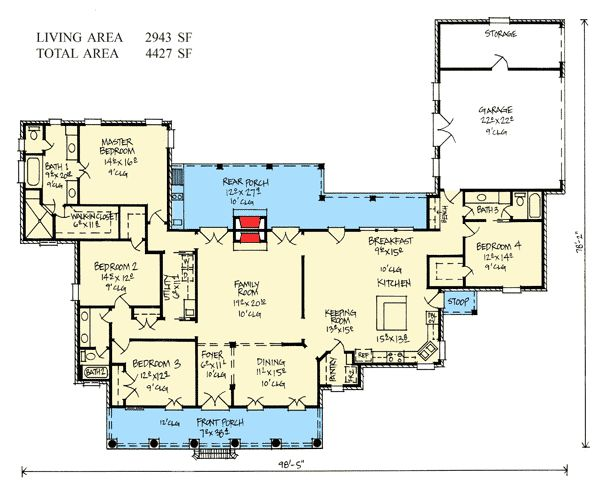124 best acadian style house plans images on pinterest for Acadian style floor plans