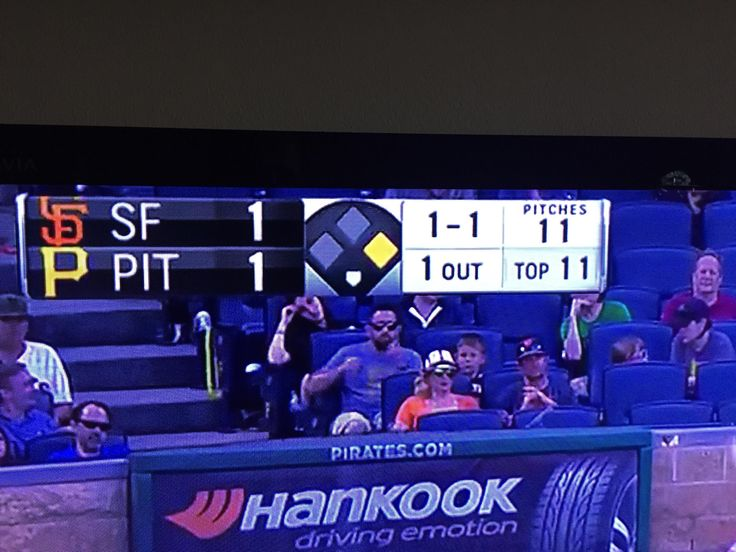 The Giants @ Pirates game today had an epic moment of mathematic proportions.