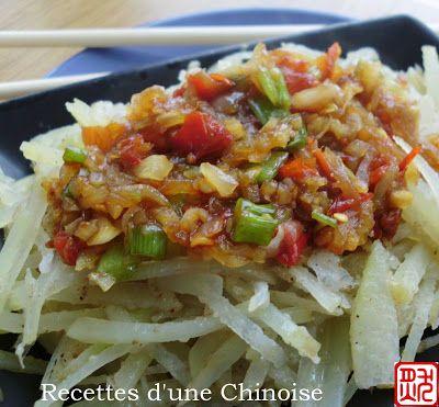 Recettes d'une Chinoise: Pomme de terre rapée à la vapeur 洋芋擦擦 yángyú cāca
