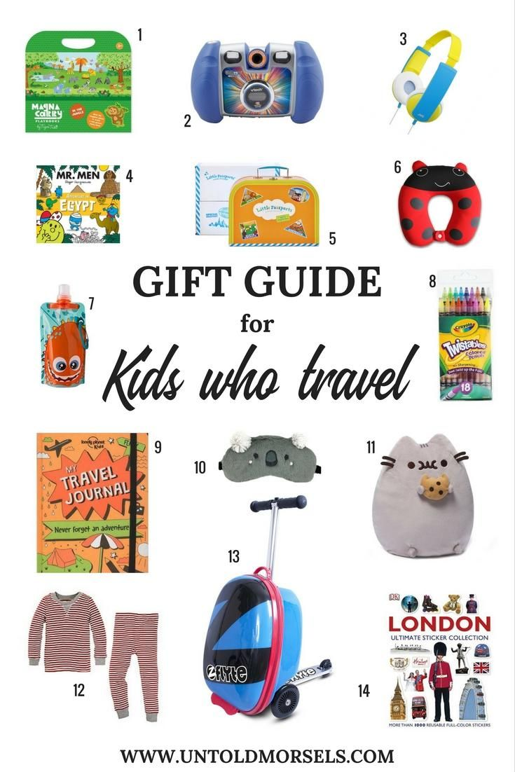 Kids travel gift ideas - travel gifts for kids - kids gift guide