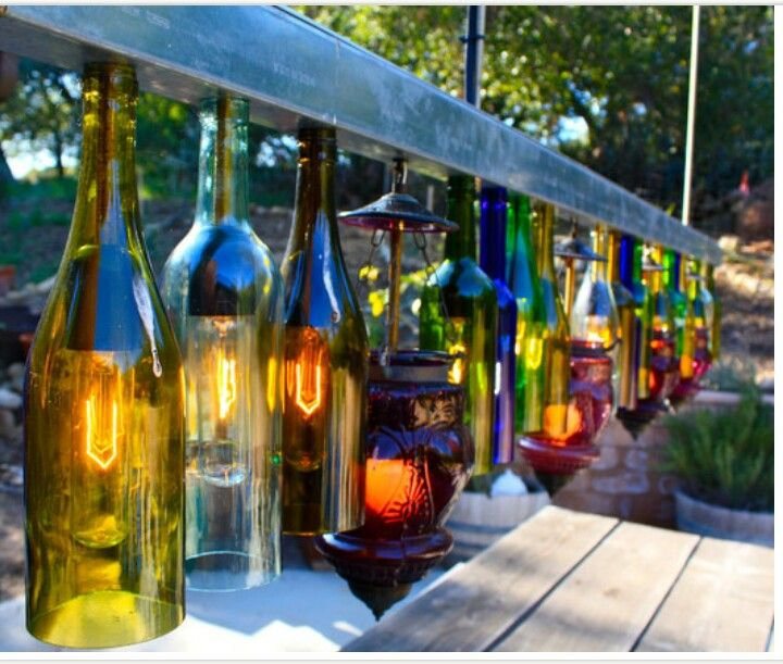 What to do with old wine bottles