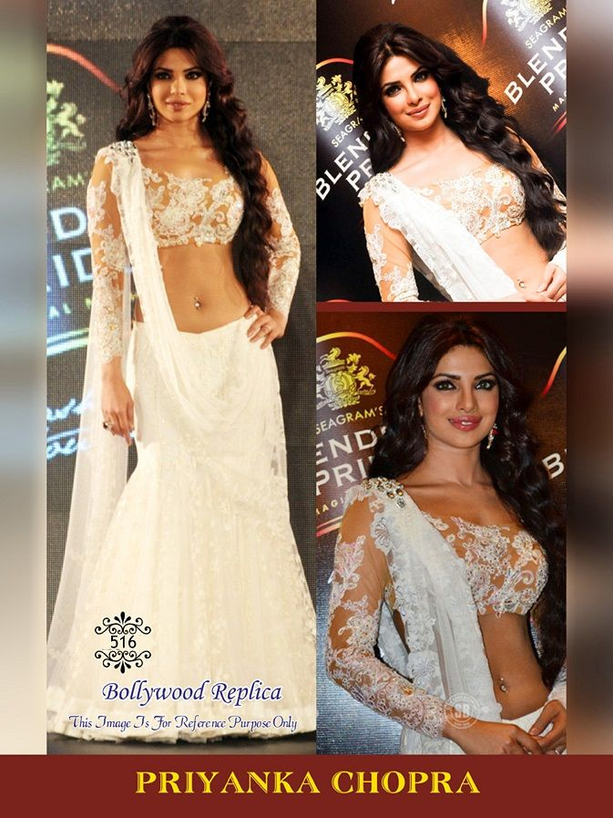 "PRIYANKA CHOPRA BOLLYWOOD REPLICA   ""TOp Fabric :-Net Bottom Fabric:-Net With Satin Inner Dupata Fabric:-Net Top Color:-White Bottom Color:-White Dupata Color:-White  Work:-Embroidery""   #COD(cash On Delivery) Available on Some Pin Codes in India For More Enquiry: #whatsapp:-)+91 8980077766 or  #Email:info.99shoppers@gmail.com"