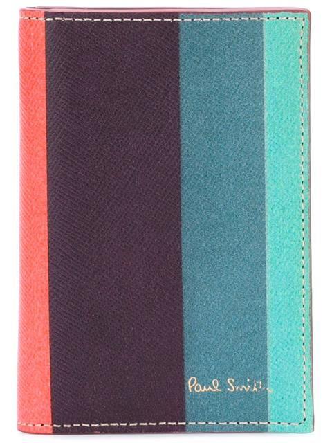 Shop Paul Smith 'Artist Stripe' print card holder.