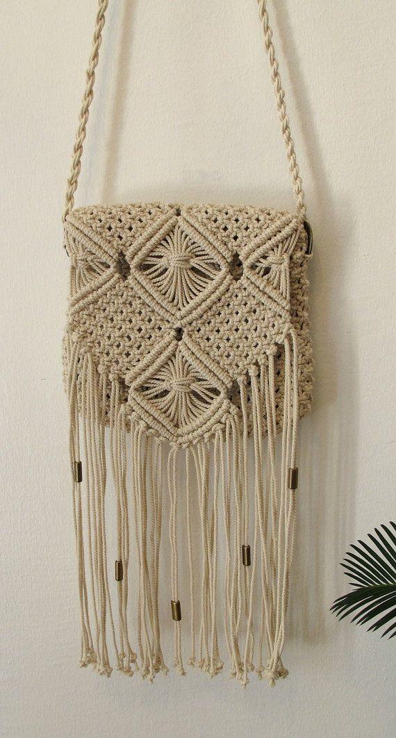 Handmade macrame handbag Boho handbag Hand Made Boho by WallKnot