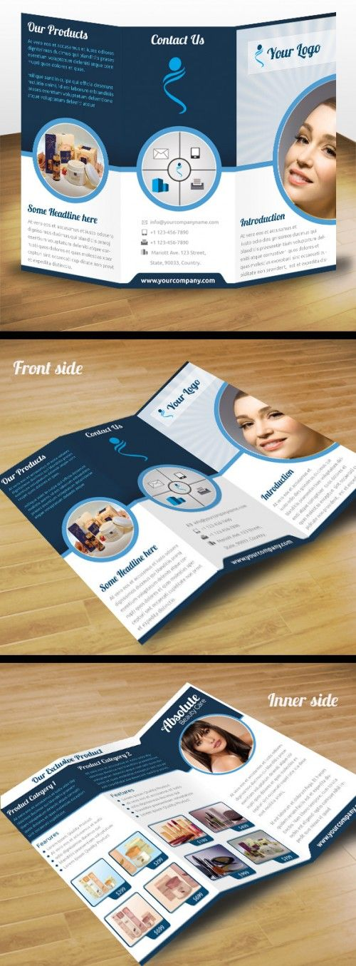 30 Contoh Desain Brosur Lipat Tiga | 9_Business-Product-Tri-Fold-Brochure-500x1355