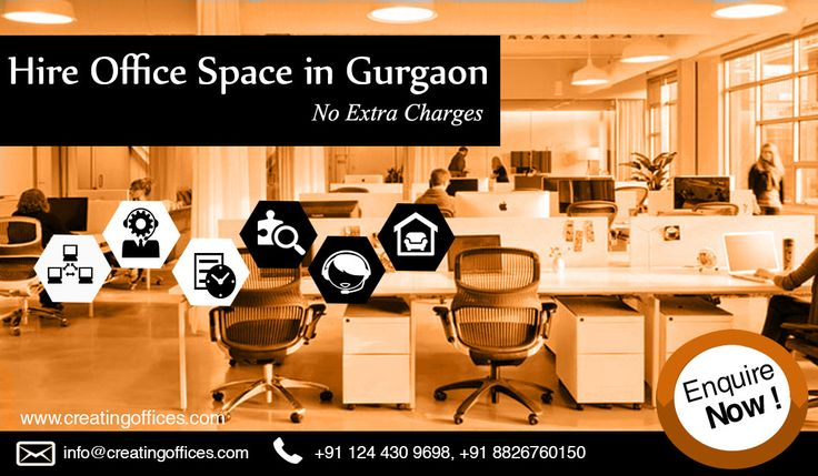 Looking to hire a flexible, affordable and productive office space in Gurgaon? Let your business needs be satisfied with comprehensive solutions by #CreatingOffices. Feel free to contact us at +918826760150 for more details.!!  #Hire #Looking #Office #Space #Gurgaon