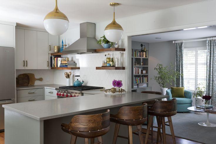 Jonathan Adler Rio Pendants In A Hello Kitchen Design Kitchens Pinteres