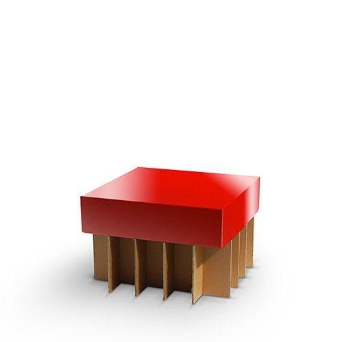 ALVO BASS - Carton Factory Designer: Skemp Design Misure: 68 x 68 x 45h Tavolo basso in cartone.  #cardboard #ecodesign #cartone #cartonfactory