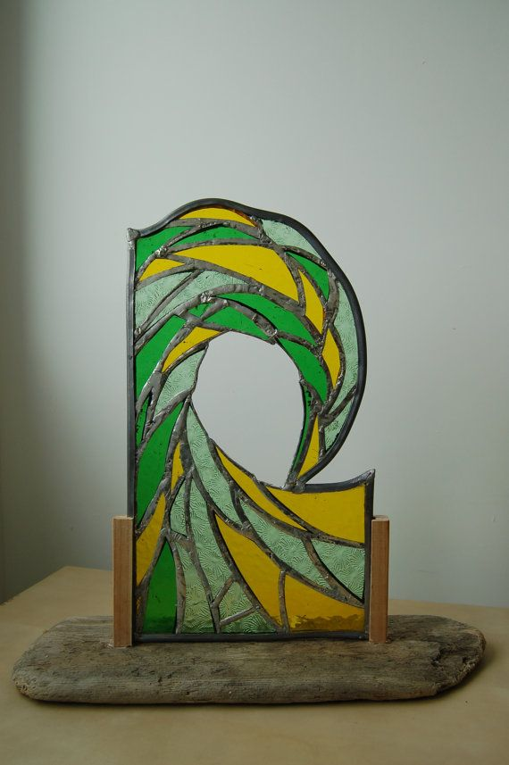The ultimate wave glass panel mounted in by AndyBullGlassArt