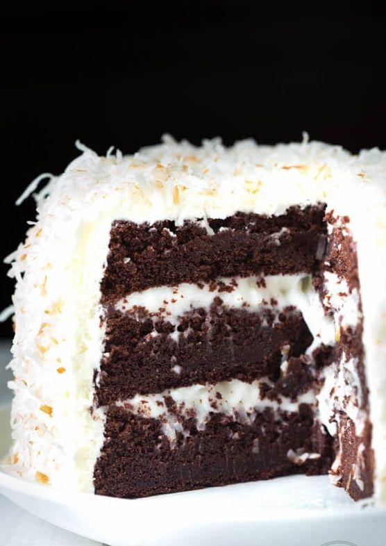 Best Ever Coconut Cream Chocolate Cake - 4u1s