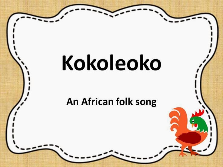 Music, Music, Music!: Kokoleoko