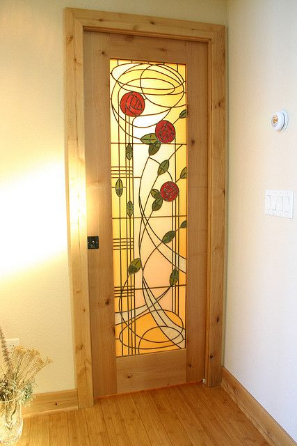 Custom Stained Glass by The Red Studio - Charles Rennie Mackintosh style