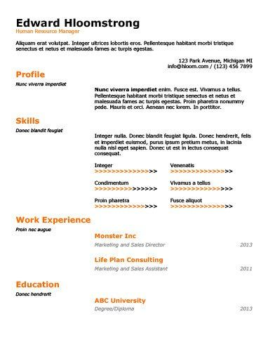 - Free Resume Template by Hloom.com
