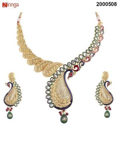 KRIAA-Women's Beautiful Zinc Alloy Necklace Set   - 2000508