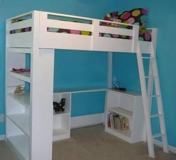 Child/Youth/Teen LOFT Bed Plan - build your own - DIY Woodworking Project Plans | eBay